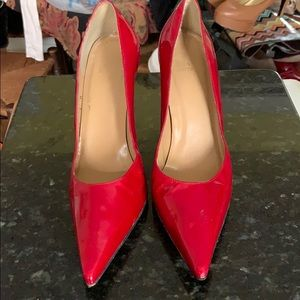Stuart Weitzman Bright Red Patent 4Inch Heel Pumps
